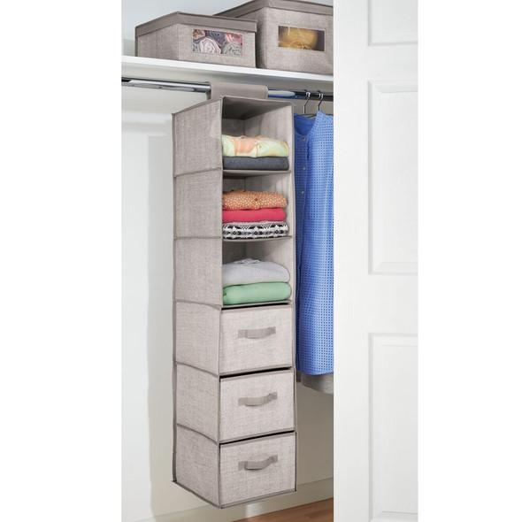 6 Shelf Fabric Hanging In-Closet Organizer Storage