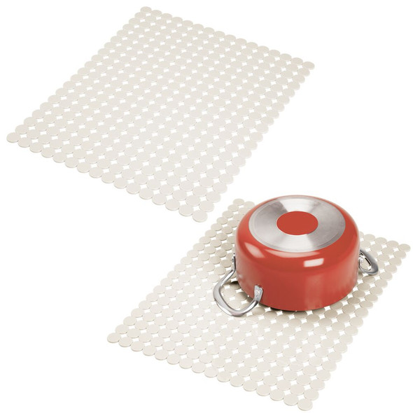 Large Plastic Kitchen Sink Protector Mat in Circle Pattern