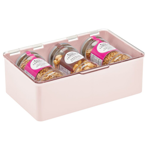 """Plastic Stackable Household Container with Lid - 7.1"""" x 10.7"""" x 3.7"""""""