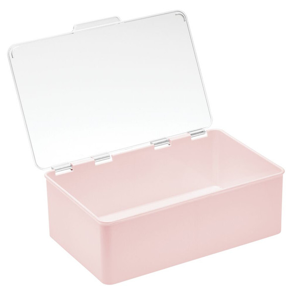 "Plastic Stackable Household Container with Lid - 7.1"" x 10.7"" x 3.7"""