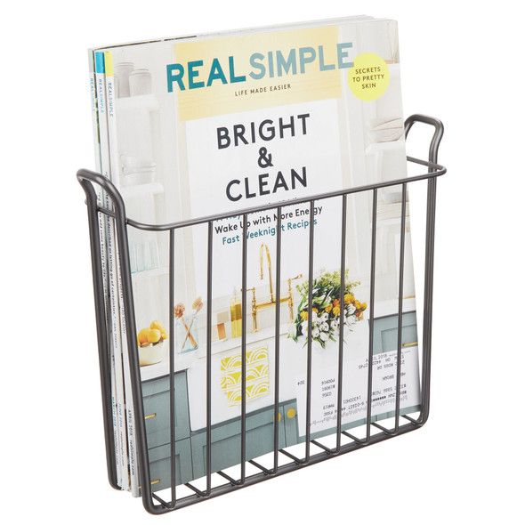 Metal Wall Mount Bathroom Magazine Rack and Newspaper Stand