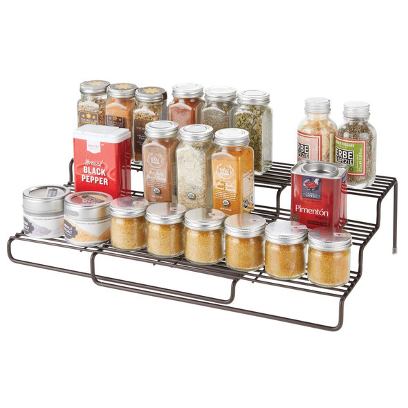 Metal Wire Expandable Kitchen Spice Rack Organizer