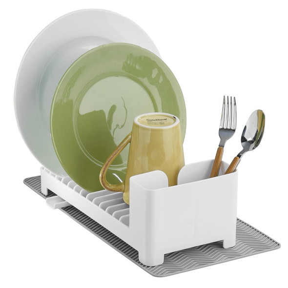 Kitchen Dish Drainer Rack and Drying Mat Set