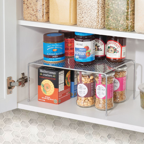 Small Metal Kitchen Cabinet Pantry Storage Shelf - Pack of 2