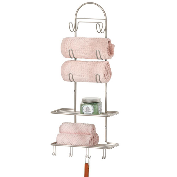 Large Wire Wall Mount Bathroom Storage Shelf and Towel Storage
