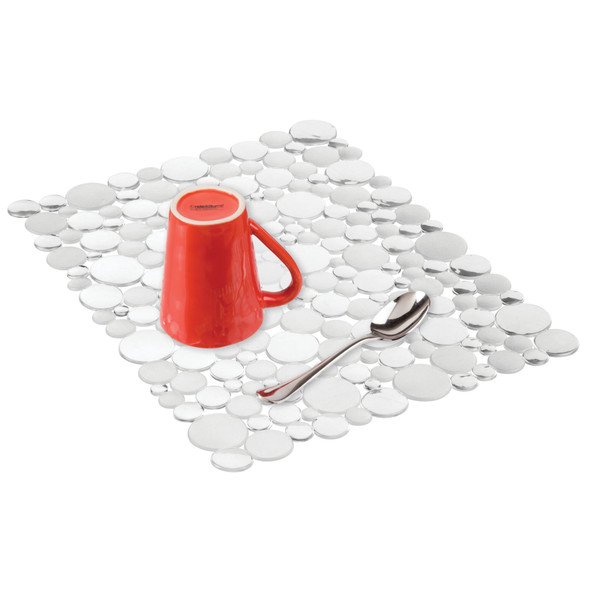 Large Adjustable Kitchen Sink Protector Mat in Bubble Design - Pack of 2