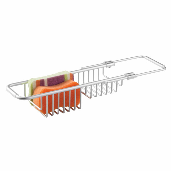 Metal Expandable Kitchen Over Sink Sponge Storage Caddy