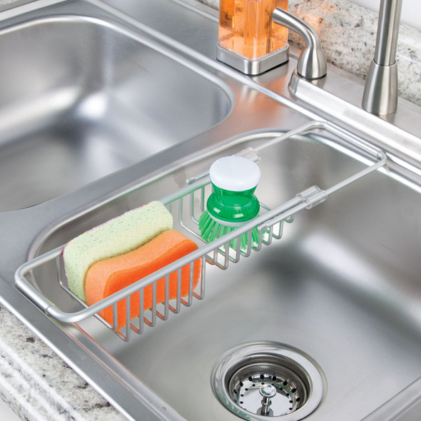 Expandable Kitchen Over Sink Sponge Storage Caddy