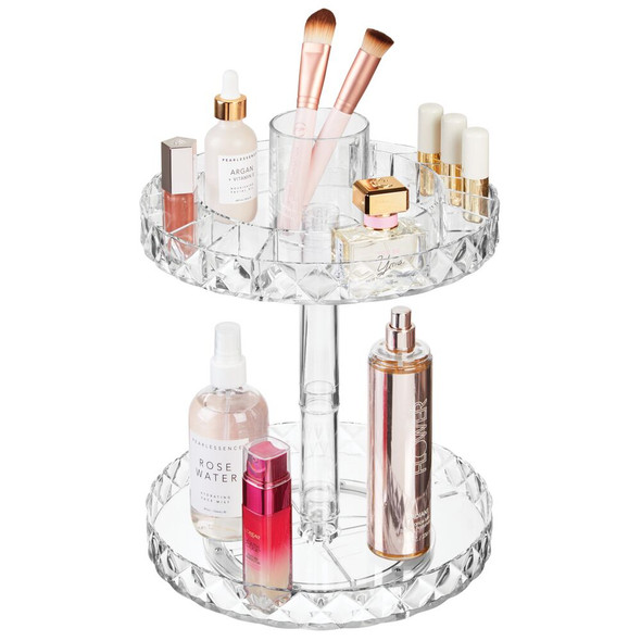2 Tier Lazy Susan Turntable for Bath / Vanity Storage