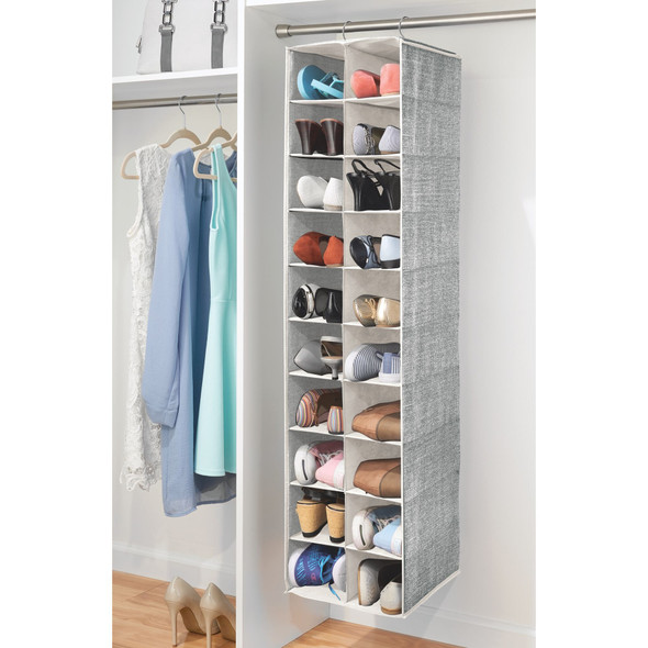 20 Compartment Vertical Hanging Fabric Shoe Storage