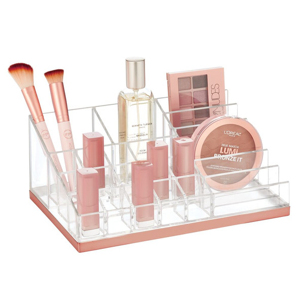 17 Section Plastic Makeup Cosmetic Storage Organizer