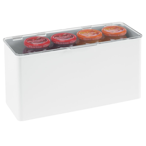 """Plastic Stackable Household Container with Lid - 5.5"""" x 13.3"""" x 7"""""""