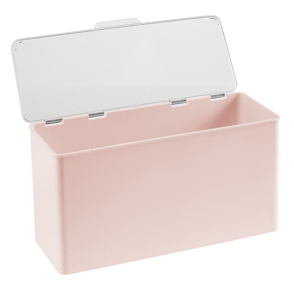 "Plastic Stackable Household Container with Lid - 5.5"" x 13.3"" x 7"""