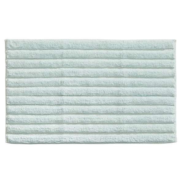 Cotton Spa Rectangular Bath Mats with Ribbed Pattern - Pack of 2