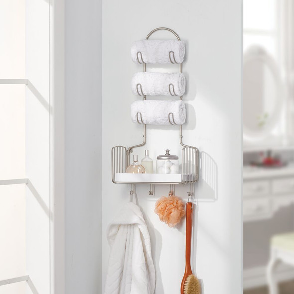 Large Metal Wire Wall Mount Bathroom Storage Shelf