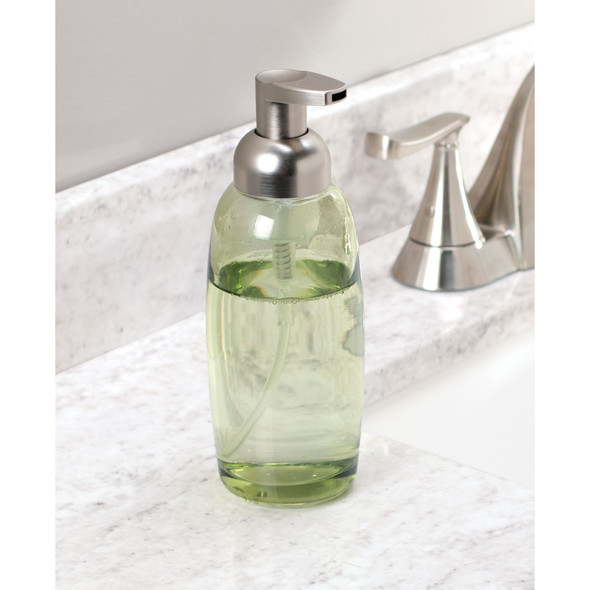 Modern Glass Refillable Foaming Soap Dispenser Pumps - Set of 2