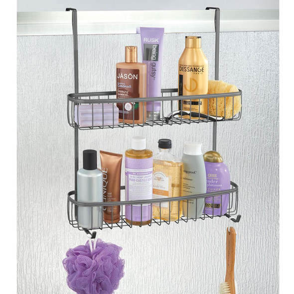 Extra Wide Metal Over Door Bathroom Shower Caddy