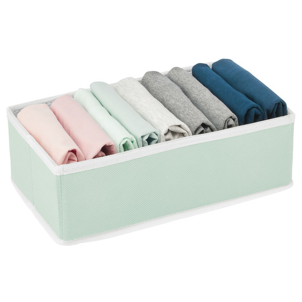 Fabric Drawer Organizer for Dresser and Closet Storage - Pack of 6
