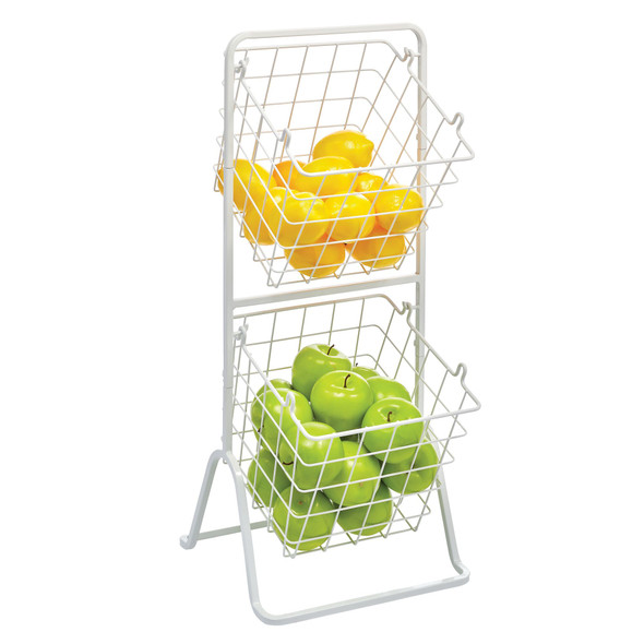 2 Tier Angled Metal Wire Food Storage Tower