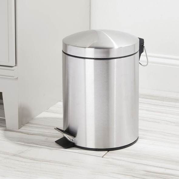 5 Liter Metal Step Trash Can Garbage Bin - Round