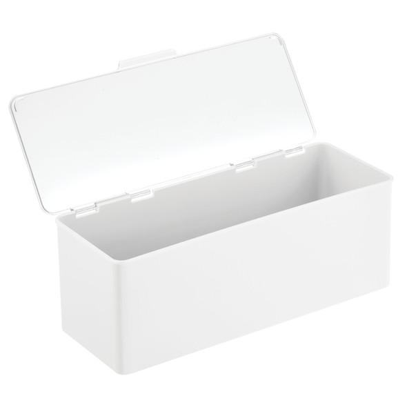 "Plastic Stackable Household Container with Lid - 5.5"" x 13.3"" x 5"""