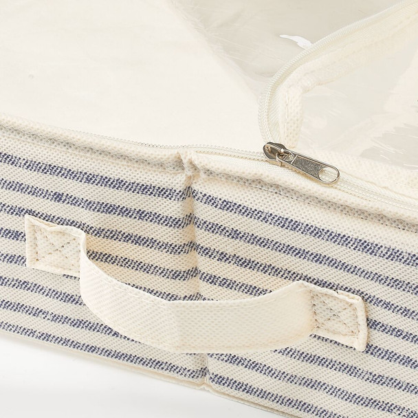 Under Bed Storage Container in Natural/Blue Stripe