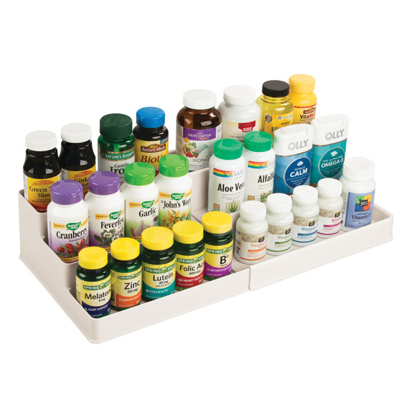 Plastic Expandable Vitamin Organizer for Bathroom Storage