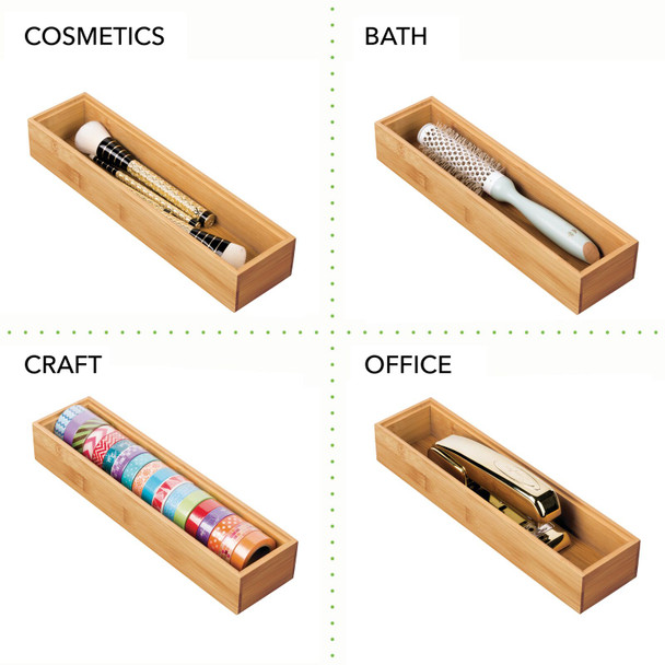 Bamboo Drawer Organizer Tray for Office