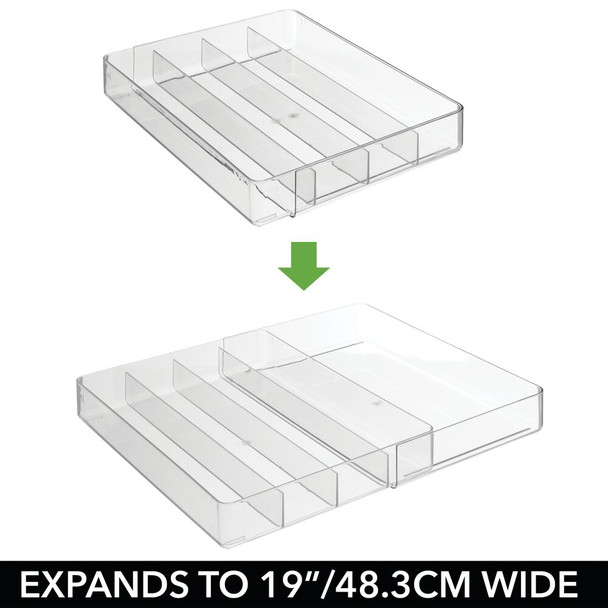 Expandable Plastic Office Drawer Organizer