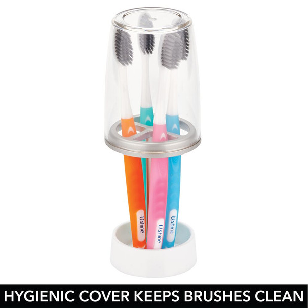 Toothpaste & Toothbrush Holder Stand with Cup/Cover