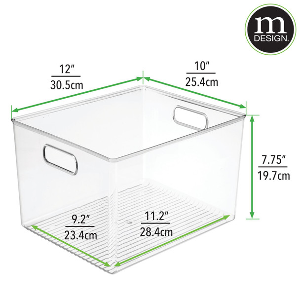 Open Top Plastic Kitchen Bins with Labels