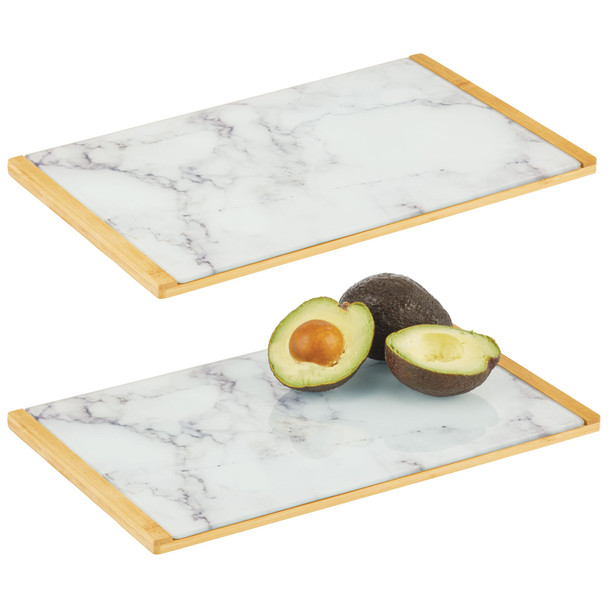 Bamboo/Glass Kitchen Serving Tray