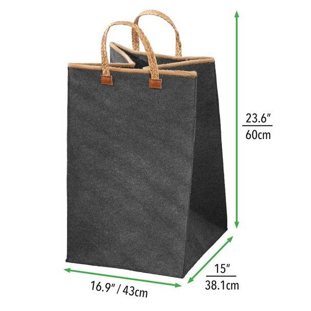 Laundry Hamper Basket with Attached Handles