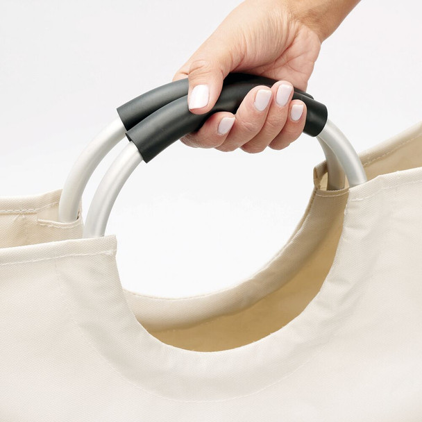 Folding Fabric Laundry Hamper with Easy Grip Handles