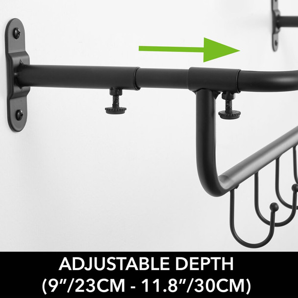 Metal Wall Mount Sports Equipment Rack and Hooks