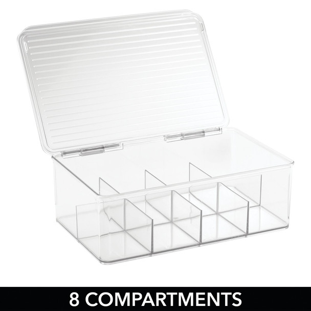 Divided Storage Box for First Aid Kit and Supplies - 8 Sections