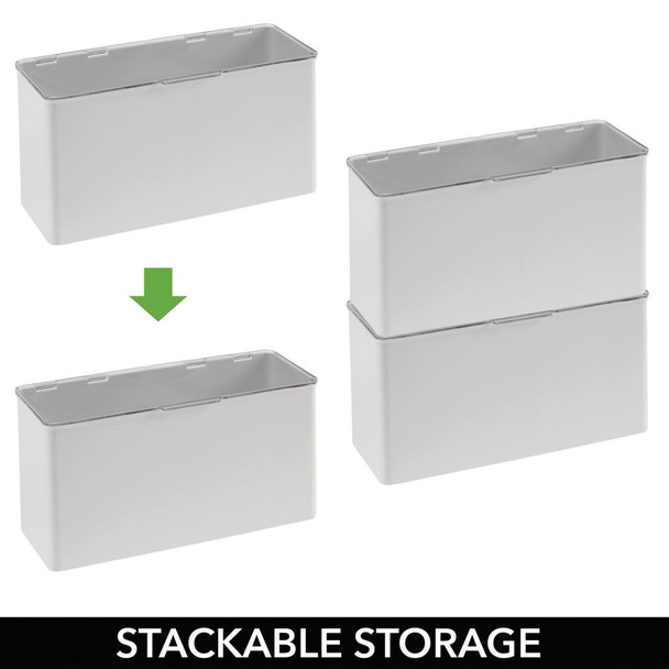 """Plastic Craft Storage Bin with Labels - 5.75"""" x 13.4"""" x 7"""" - Pack of 2"""