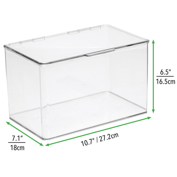 """Plastic Craft Storage Bin with Labels - 7.1"""" x 10.7"""" x 6.5"""" - Pack of 2"""