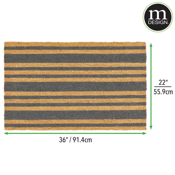 Striped Entryway Mat