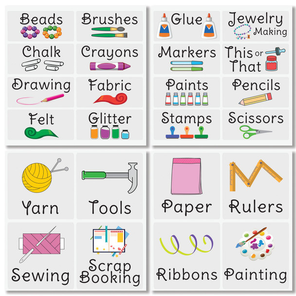 Craft + Hobby Label Sheets