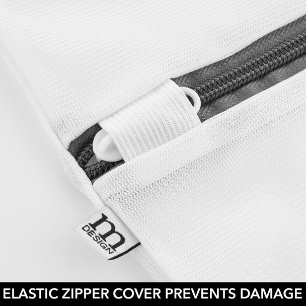 Large Mesh Laundry Bag with Zipper
