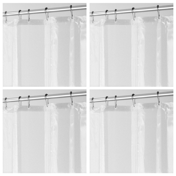 """LONG PEVA Shower Curtain Liner for Bath, 72"""" x 84"""", Clear"""