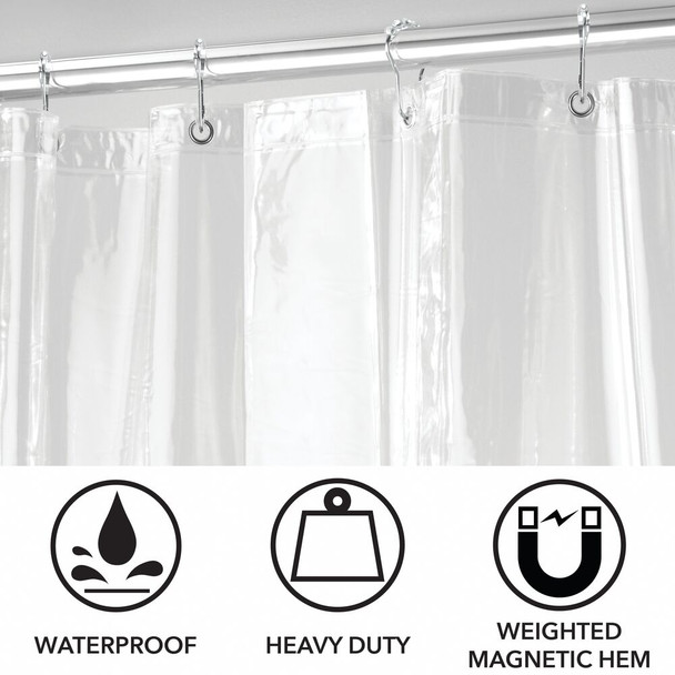 Plastic Shower Liner with Rings