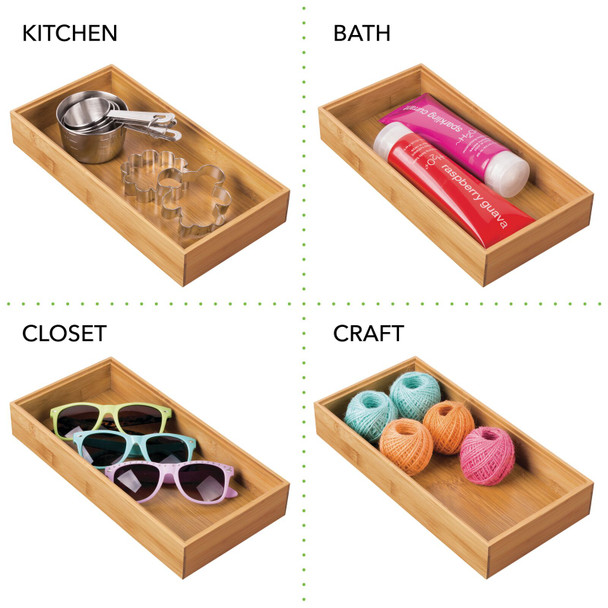 Bamboo Wide Drawer Organizer for Office