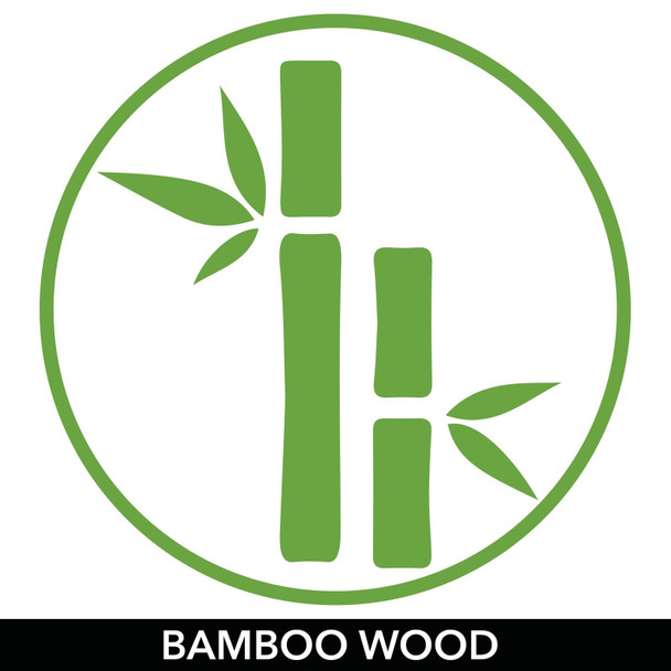 """Bamboo Bin with Labels for Kitchen - 14.5"""" x 4.6"""" x 3"""""""