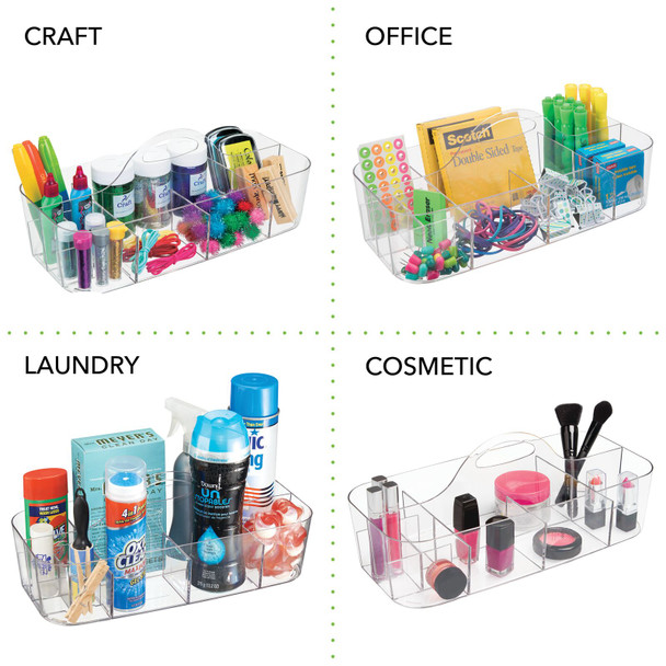 Large Plastic Craft & Sewing Storage Caddy Tote