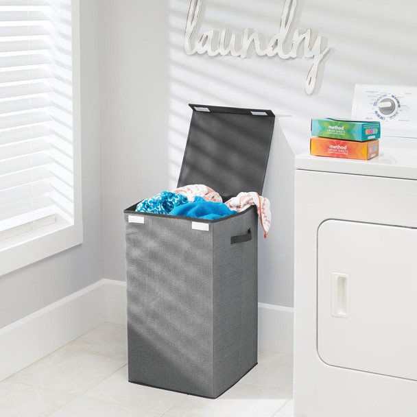 Collapsible Fabric Laundry Hamper Basket with Lid