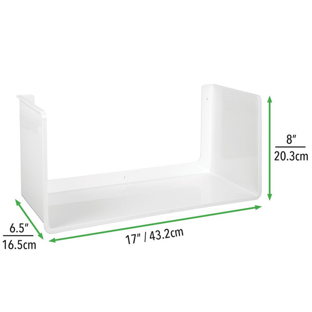Plastic Wall Mount Storage Display Shelf - Pack of 2