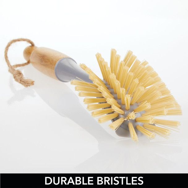 Bamboo Kitchen Utility Dish Scrub Brush Combo Set
