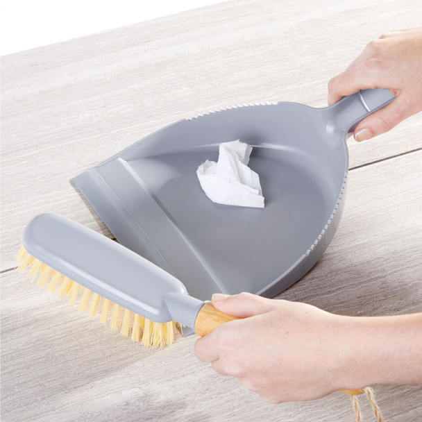 Dust Pan & Angled Brush Set